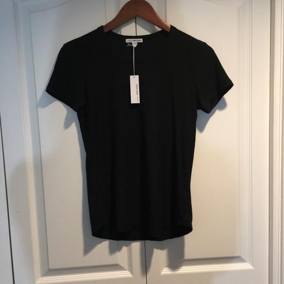 NWT James Peres Crew Neck S/S black T-Shirt 1